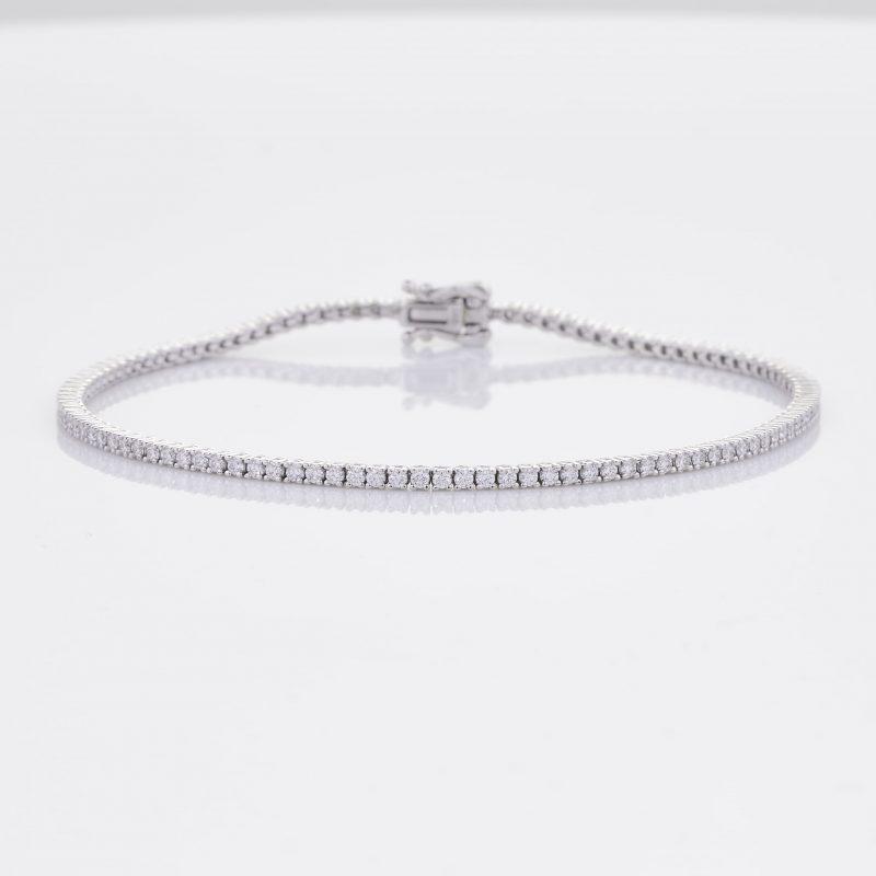 White Gold Diamond Tennis Bracelet 1