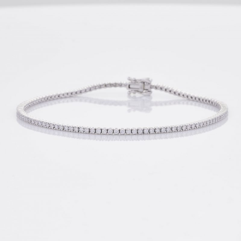 White Gold Diamond Tennis Bracelet 2