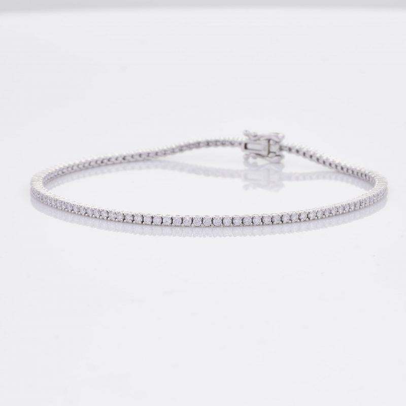 White Gold Diamond Tennis Bracelet 3