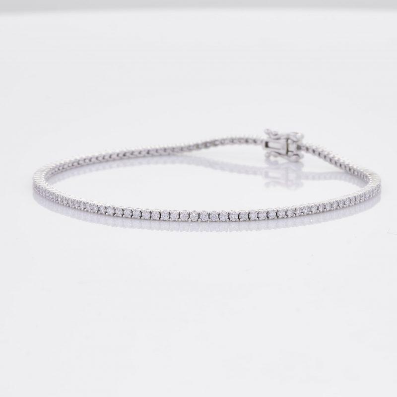 White Gold Diamond Tennis Bracelet 4