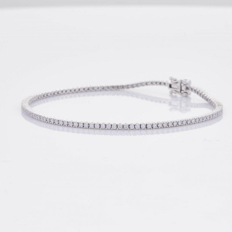 White Gold Diamond Tennis Bracelet 5