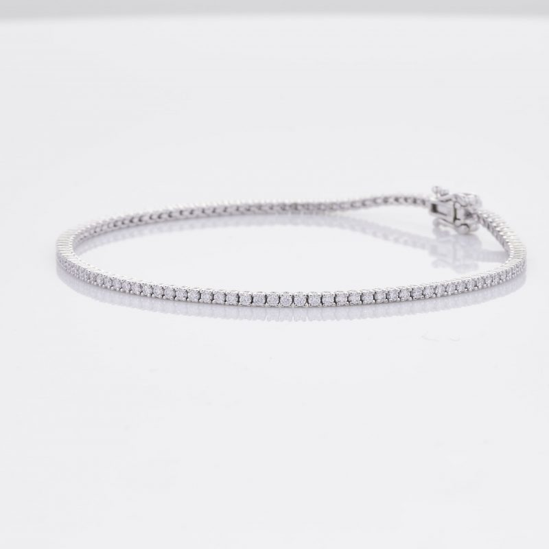 White Gold Diamond Tennis Bracelet 6