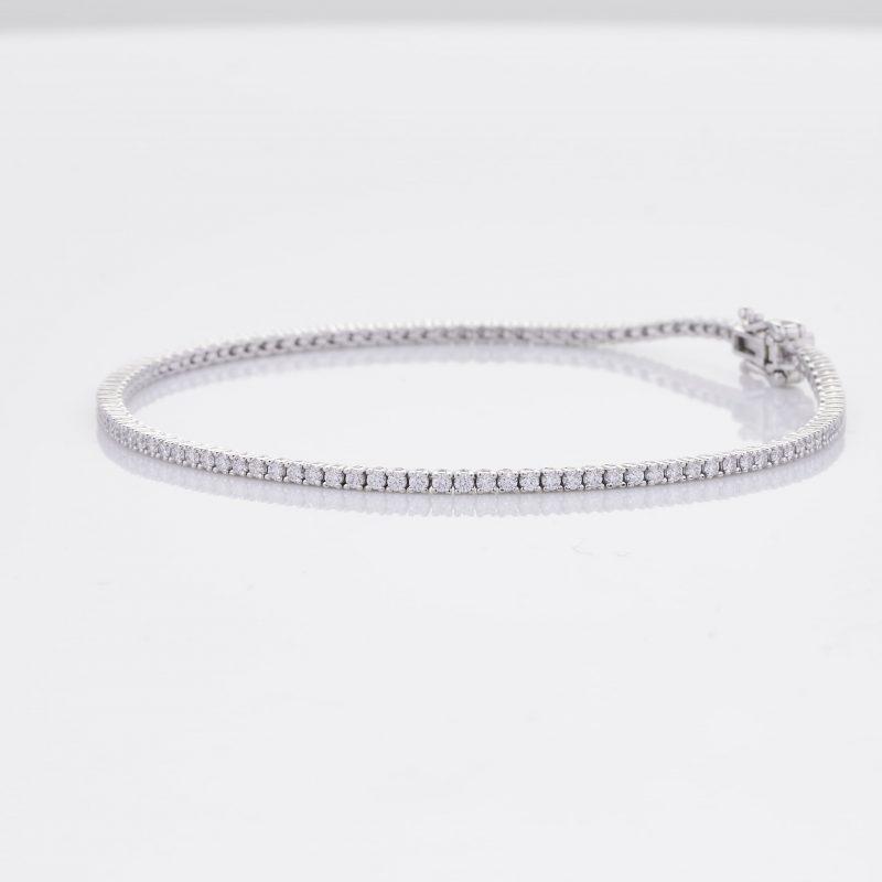 White Gold Diamond Tennis Bracelet 7