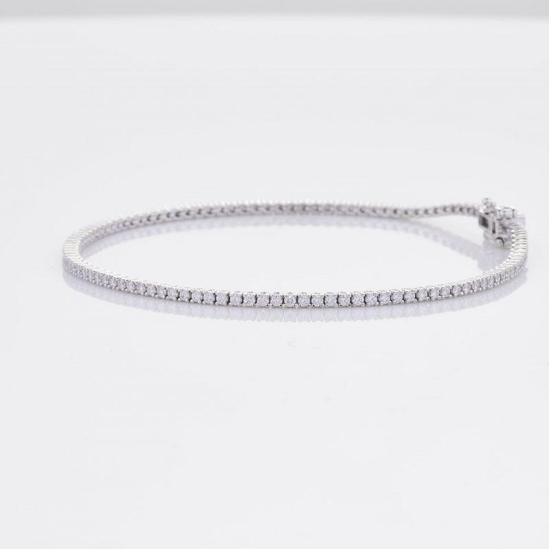 White Gold Diamond Tennis Bracelet 8