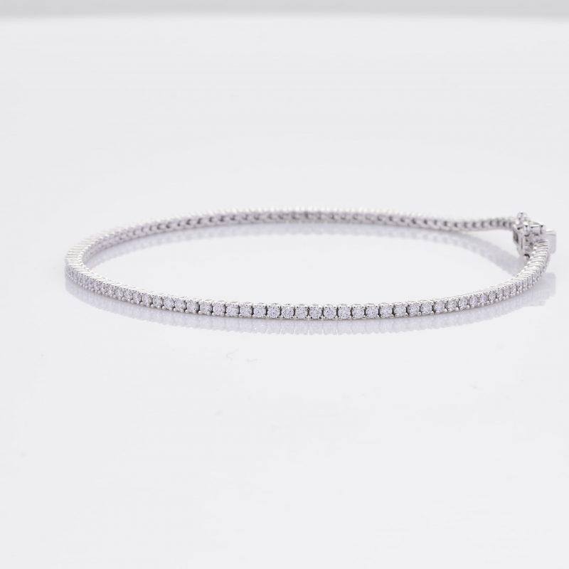 White Gold Diamond Tennis Bracelet 9