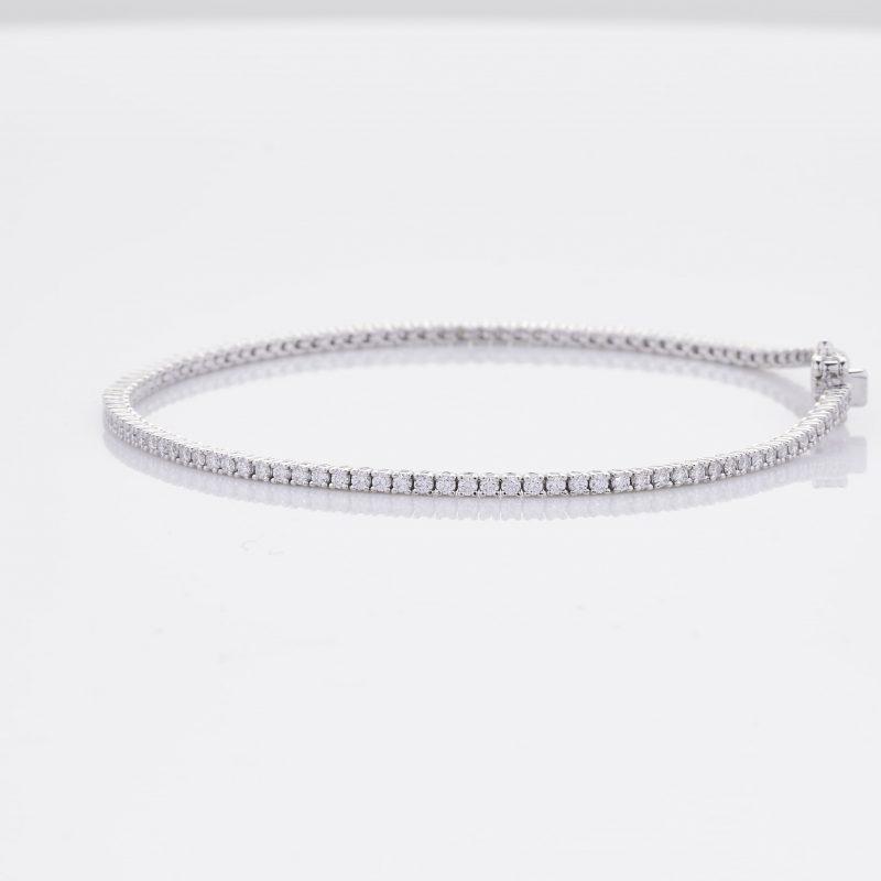 White Gold Diamond Tennis Bracelet 10