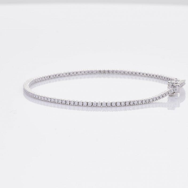 White Gold Diamond Tennis Bracelet 12