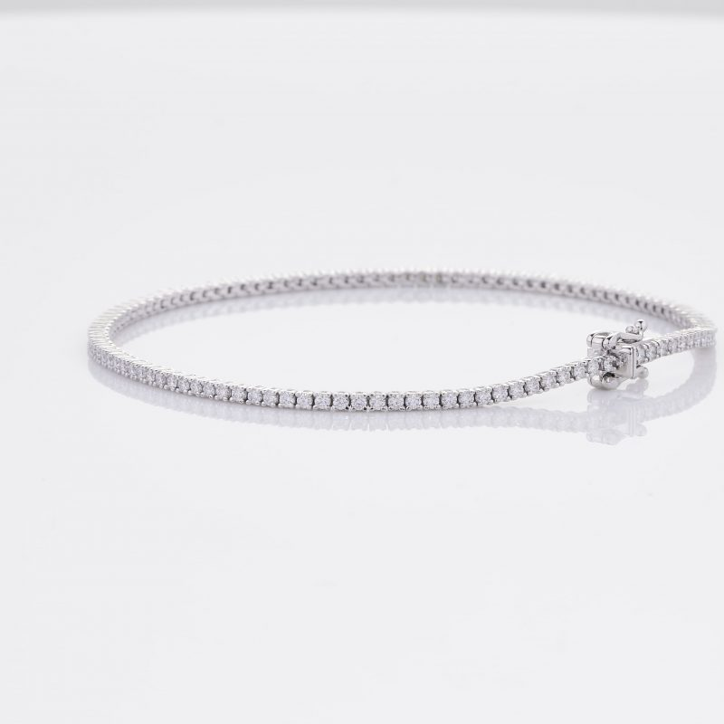 White Gold Diamond Tennis Bracelet 15