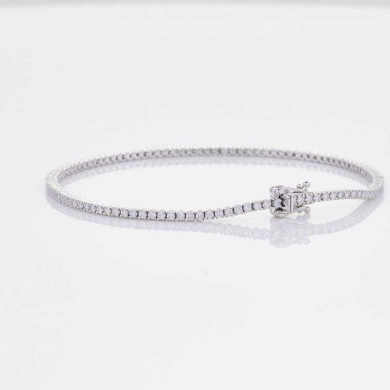 White Gold Diamond Tennis Bracelet 17