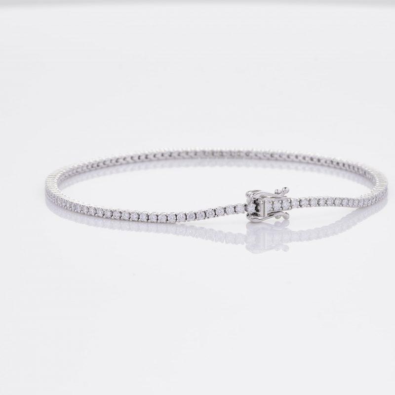 White Gold Diamond Tennis Bracelet 18