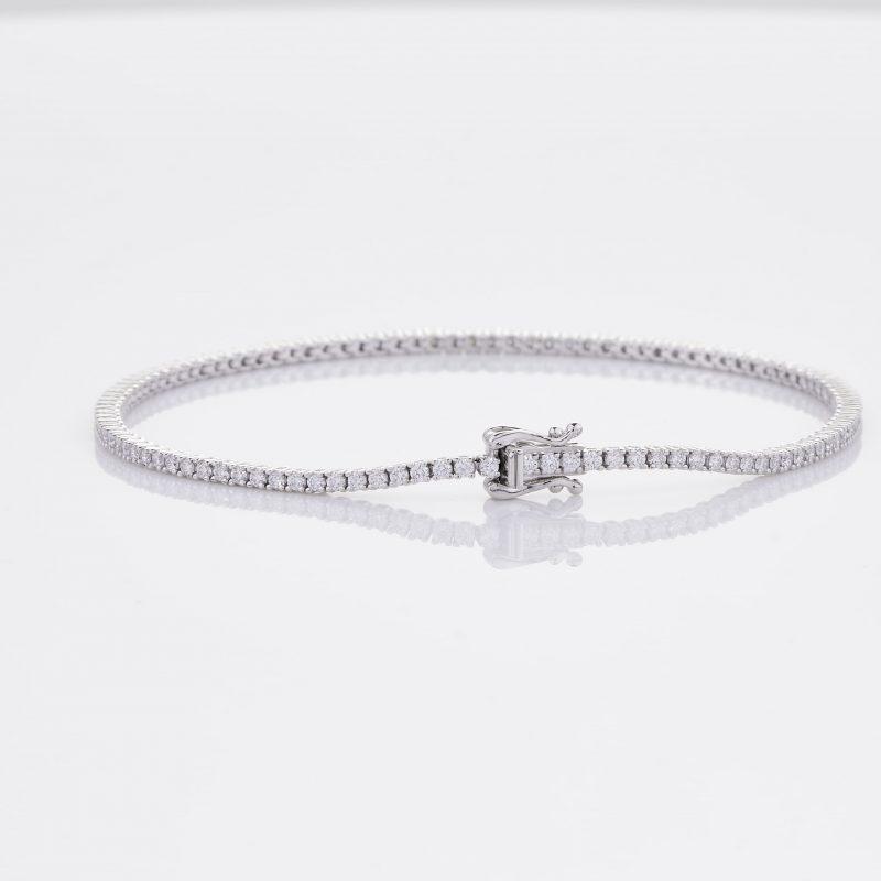 White Gold Diamond Tennis Bracelet 19