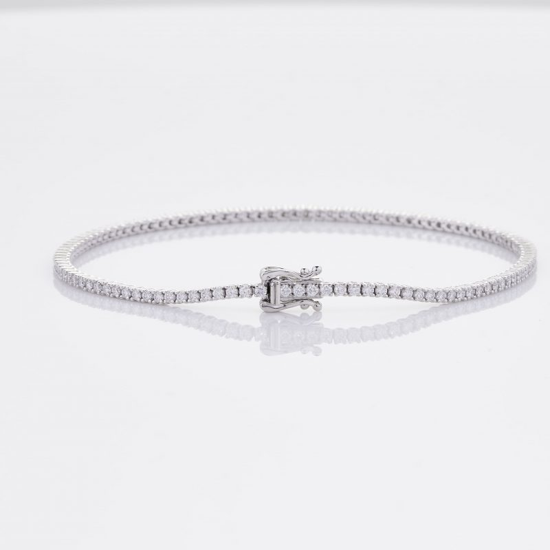 White Gold Diamond Tennis Bracelet 20