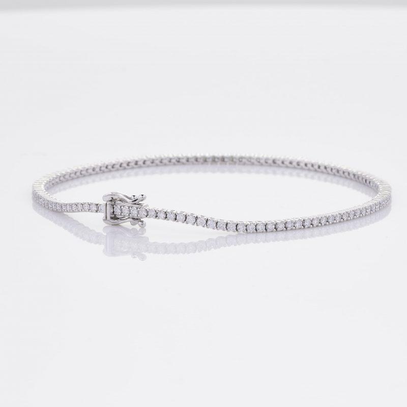 White Gold Diamond Tennis Bracelet 22