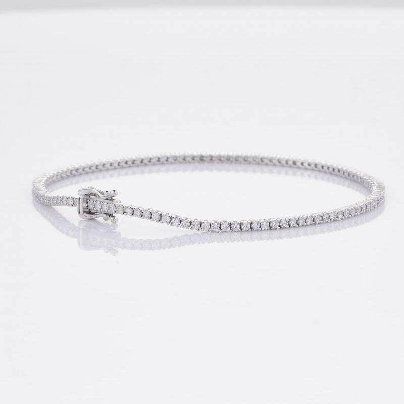 White Gold Diamond Tennis Bracelet 23