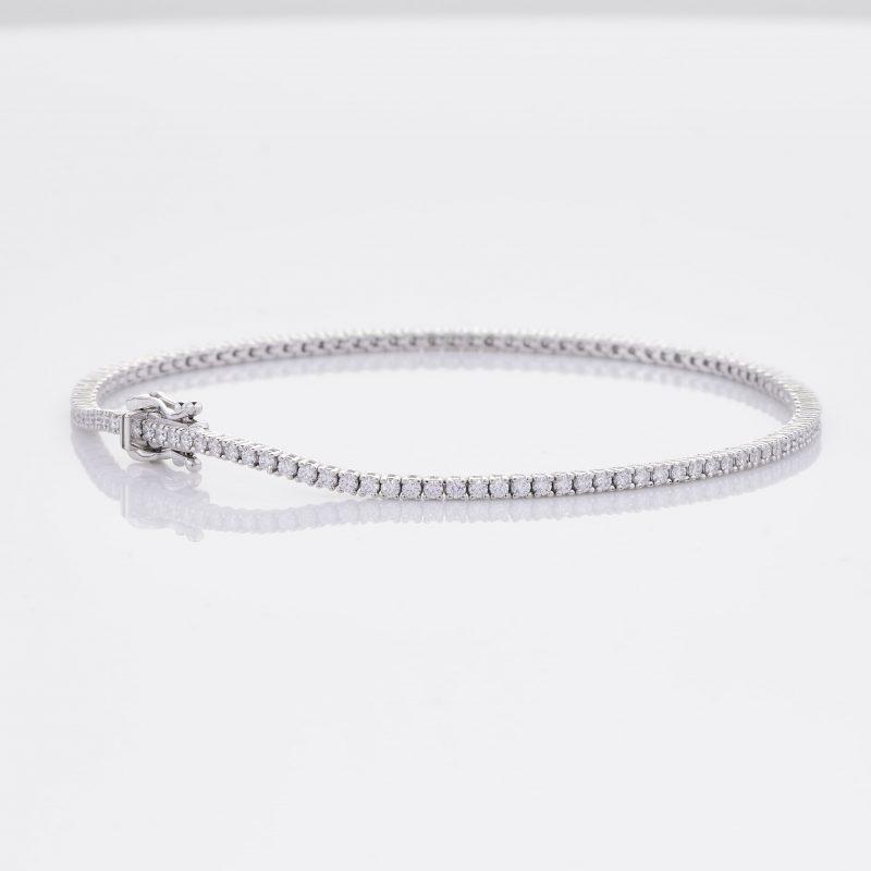 White Gold Diamond Tennis Bracelet 24