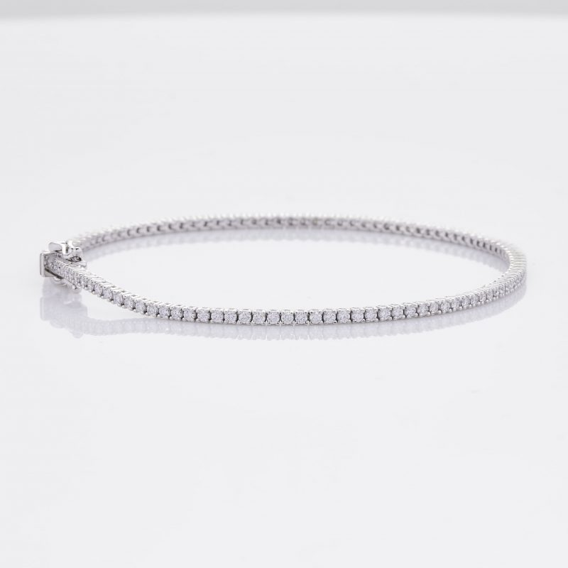 White Gold Diamond Tennis Bracelet 26