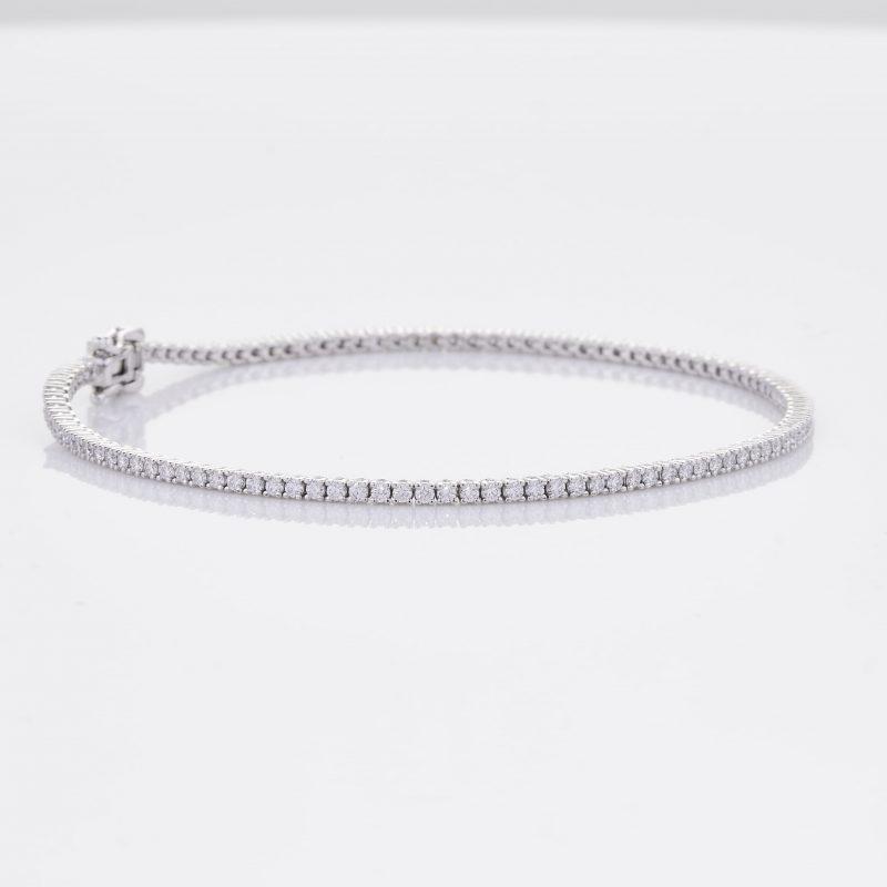White Gold Diamond Tennis Bracelet 30