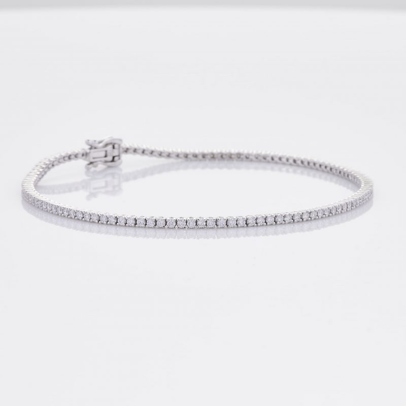 White Gold Diamond Tennis Bracelet 33