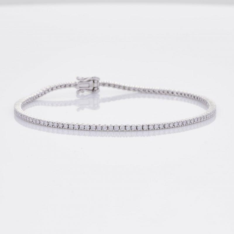 White Gold Diamond Tennis Bracelet 35