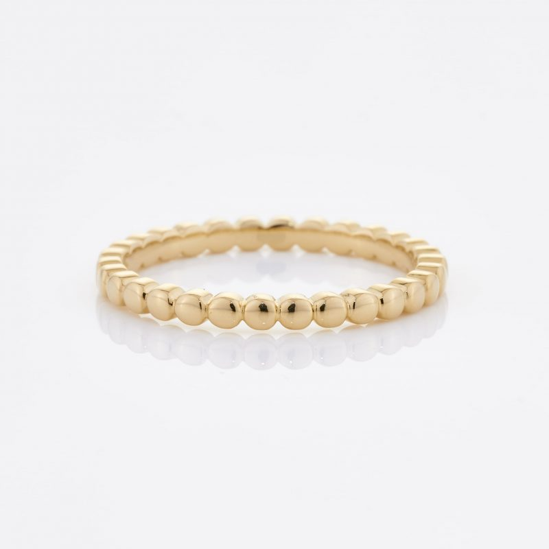 Beaded Gold Ring 001