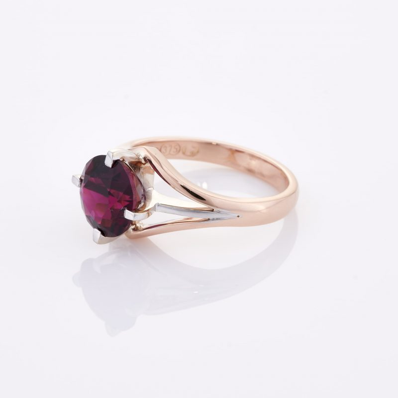 Deep Rouge Tourmaline Ring 006