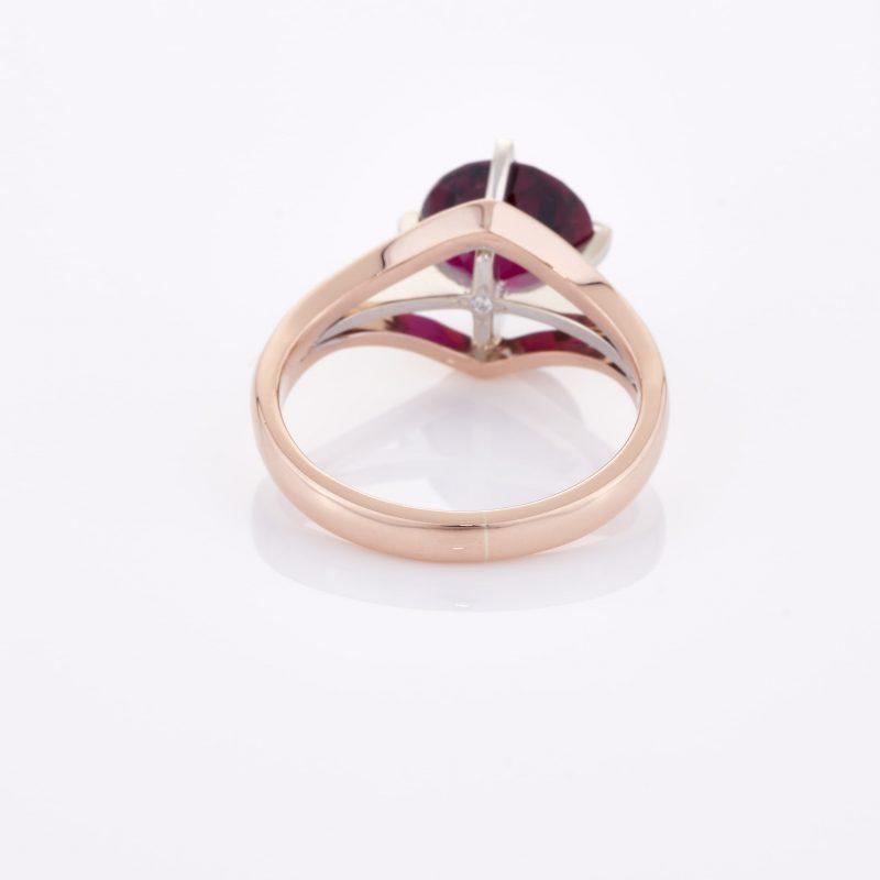 Deep Rouge Tourmaline Ring 020