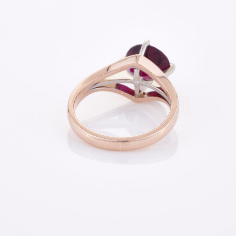 Deep Rouge Tourmaline Ring 021