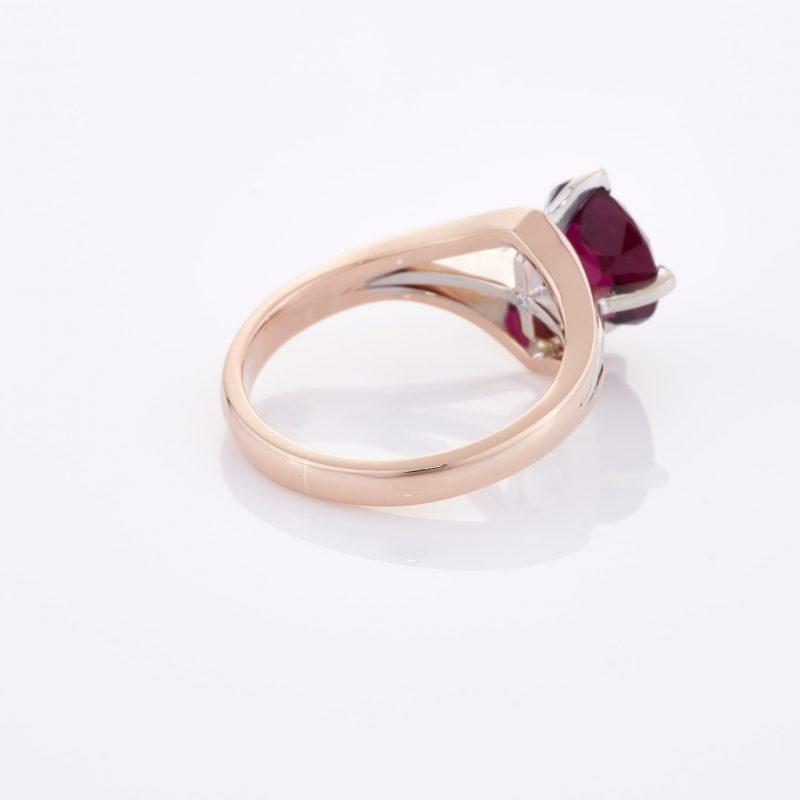 Deep Rouge Tourmaline Ring 024