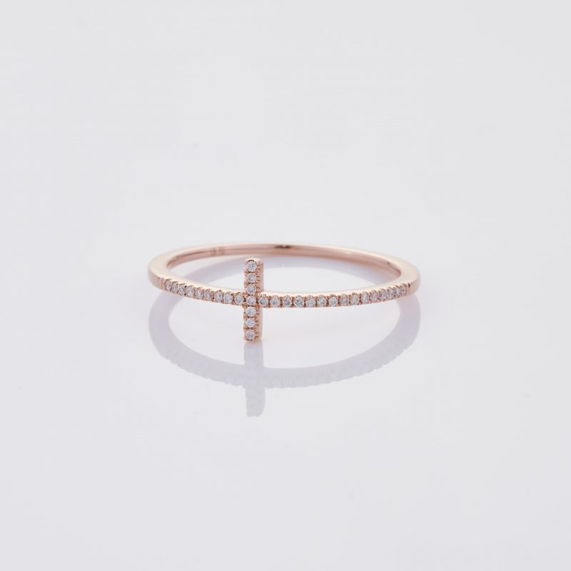 Delicate Cross Ring 001