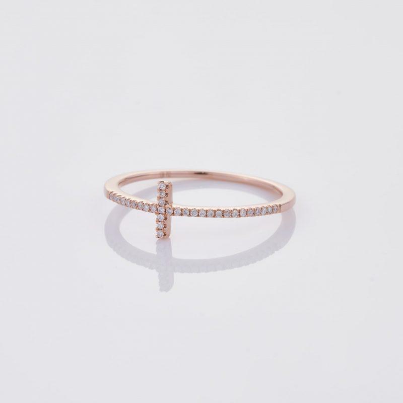Delicate Cross Ring 020