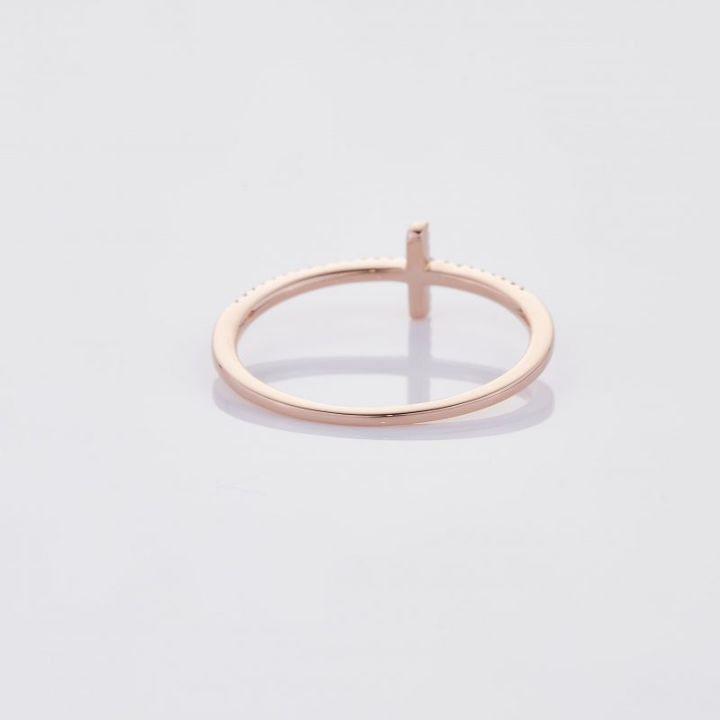 Delicate Cross Ring 018
