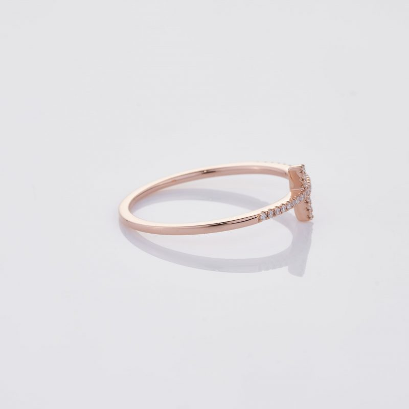 Delicate Cross Ring 028