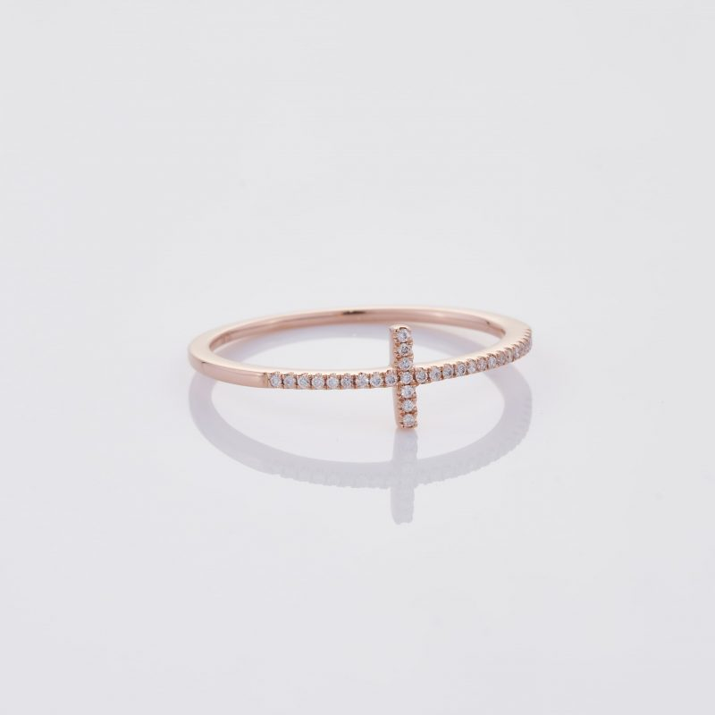 Delicate Cross Ring 034
