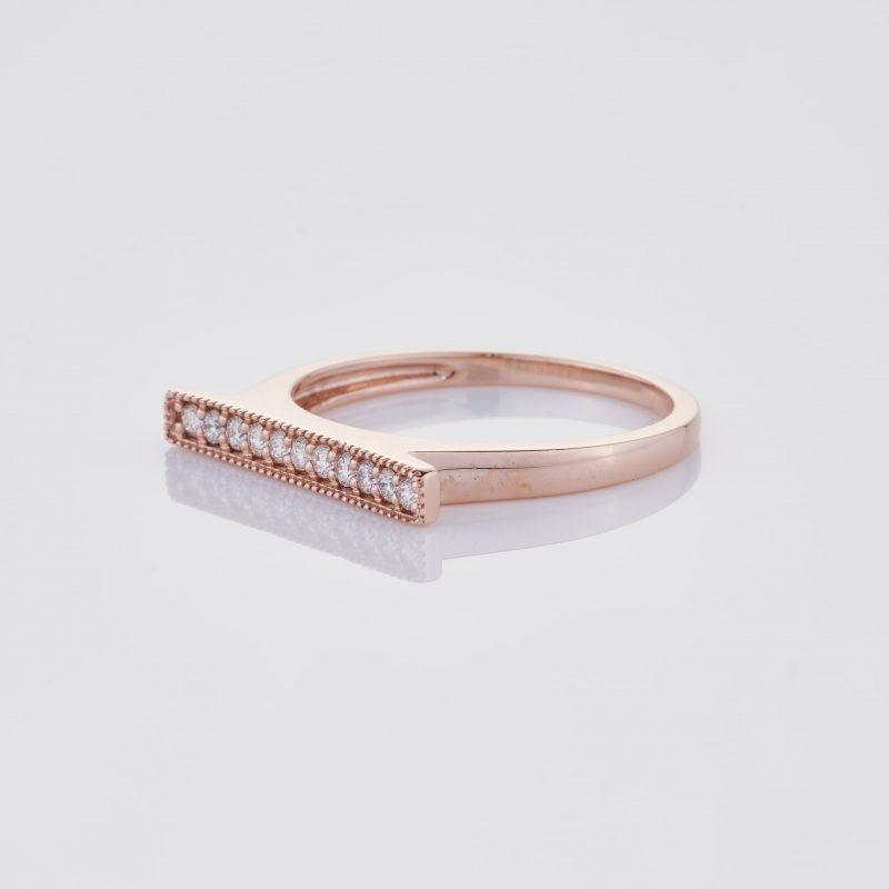 Line of fine Diamonds Ring 006