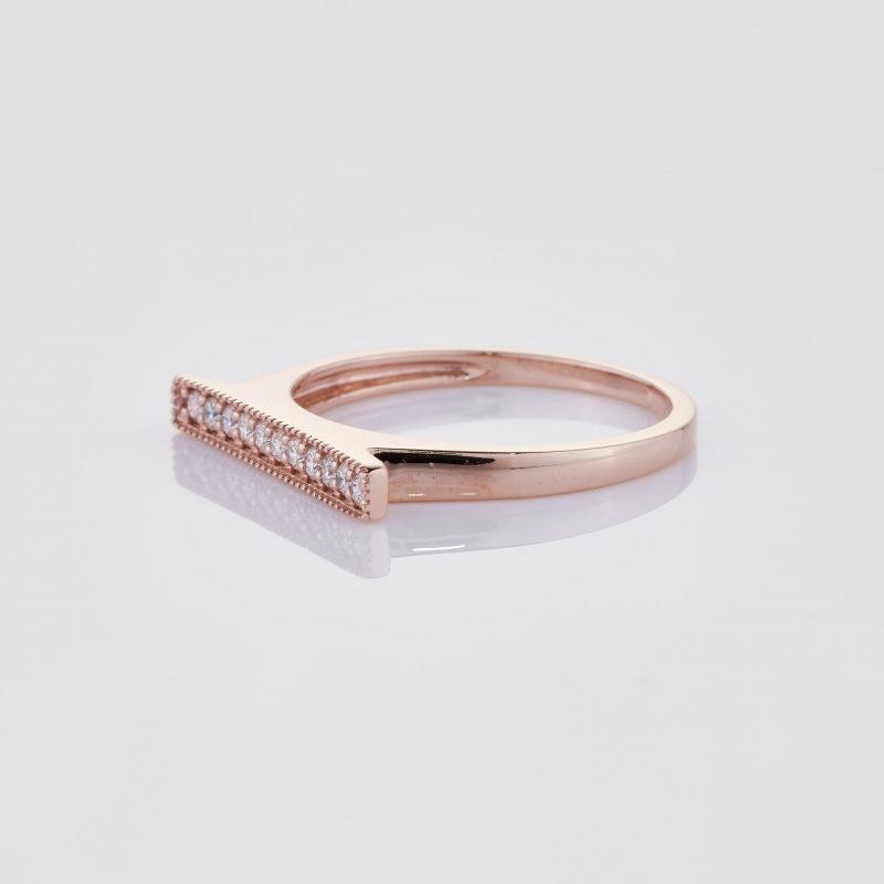 Line of fine Diamonds Ring 007