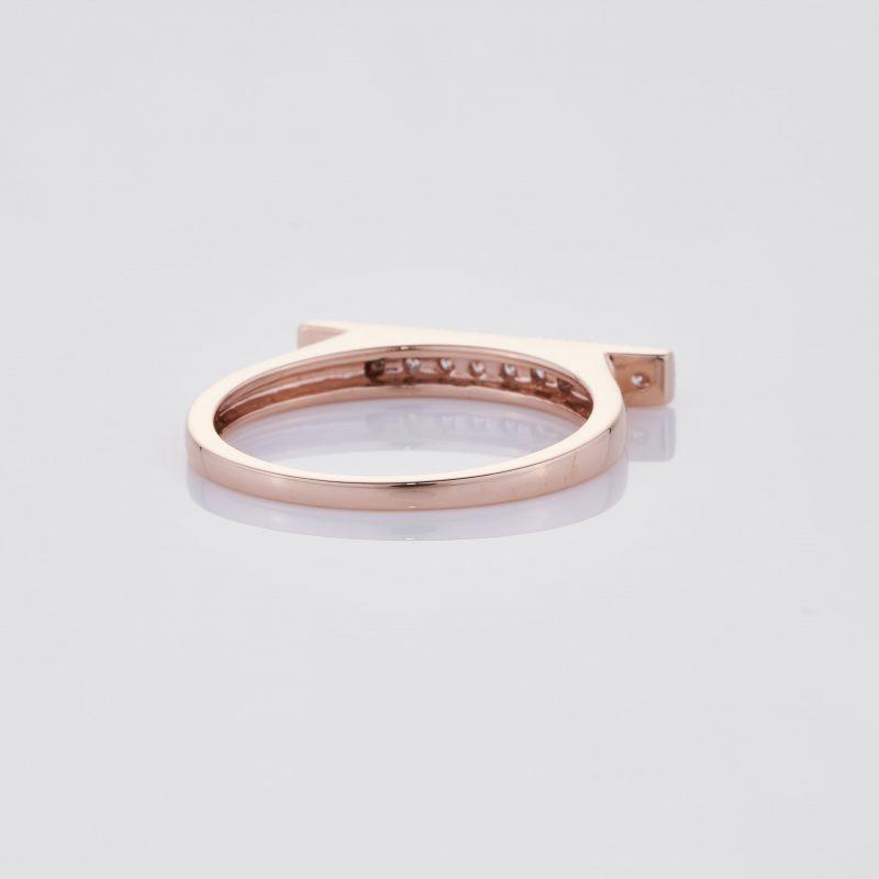Line of fine Diamonds Ring 021