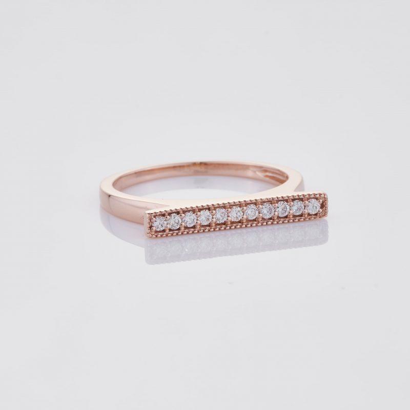 Line of fine Diamonds Ring 035
