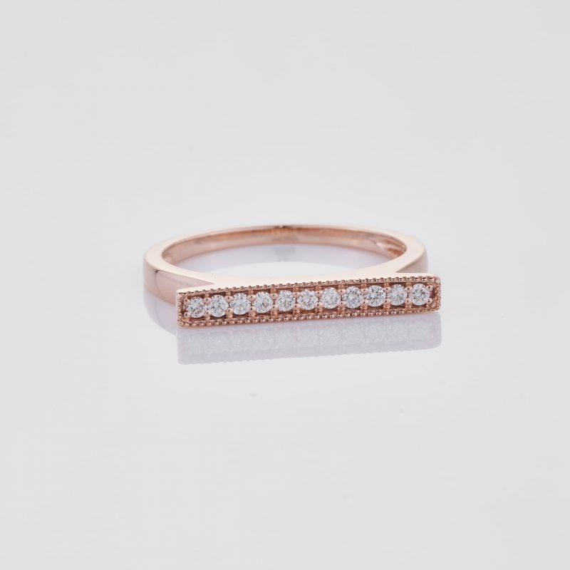 Line of fine Diamonds Ring 036