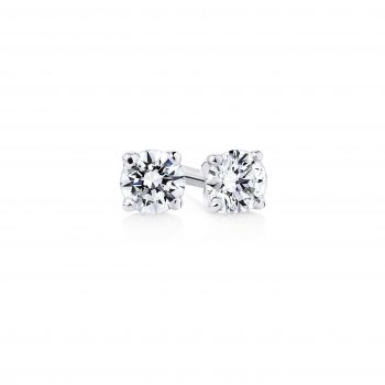 Two matched round brilliant cut diamonds 001