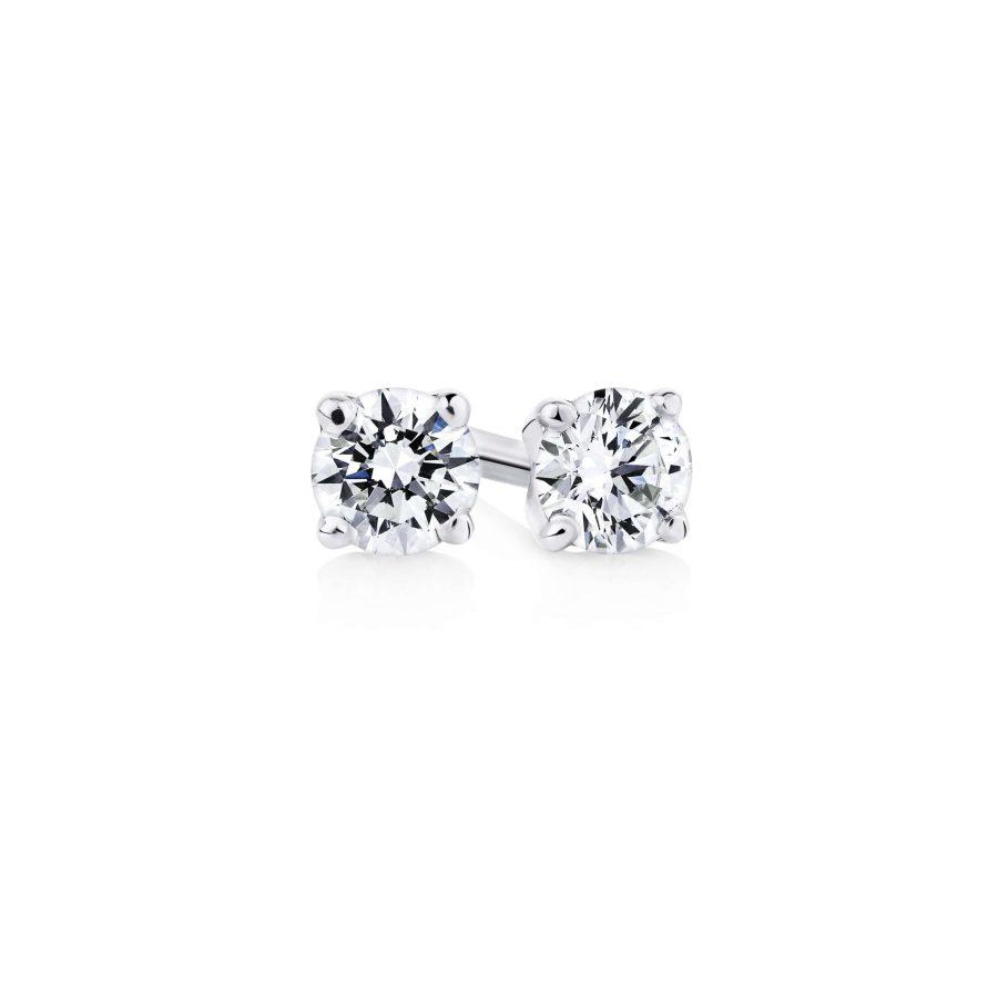 Two matched round brilliant cut diamonds 001